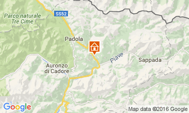 Karte Santo Stefano di Cadore Appartement 105295