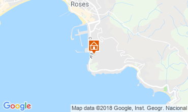 Karte Rosas Appartement 108266