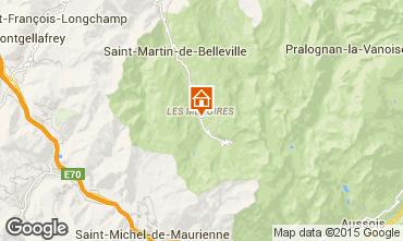 Karte Les Menuires Studio 1708