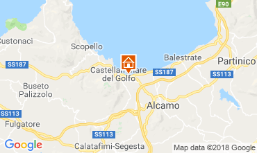 Karte Castellammare del Golfo Villa 115689