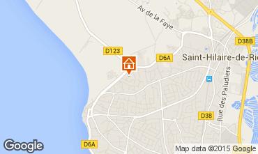 Karte Saint Hilaire de Riez Appartement 10083