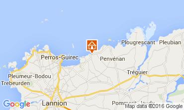 Karte Perros-Guirec Appartement 102506