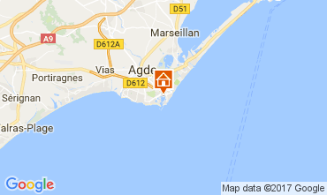 Karte Cap d'Agde Villa 112310