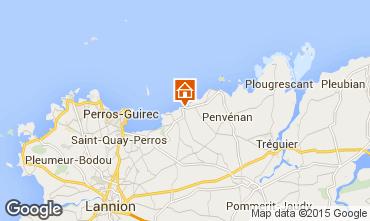 Karte Perros-Guirec Appartement 79685