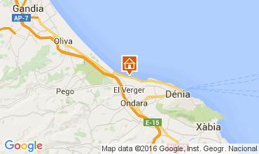 Karte Dénia Appartement 104670