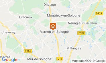 Karte Chambord Ferienunterkunft auf dem Land 119080