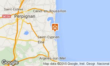 Karte Saint Cyprien Plage Appartement 73568