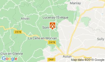 Karte Autun Ferienunterkunft auf dem Land 112324