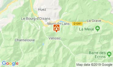 Karte Les 2 Alpes Studio 1270