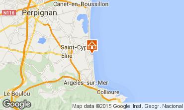 Karte Saint Cyprien Plage Appartement 8725