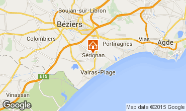 Karte Sérignan Appartement 98785