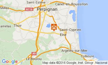 Karte Argeles sur Mer Villa 80966