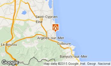 Karte Argeles sur Mer Appartement 22084