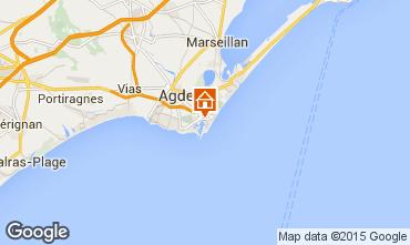 Karte Cap d'Agde Appartement 77082