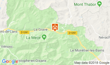 Karte Villar-d'Arêne Chalet 51065