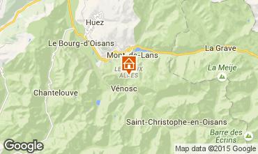 Karte Les 2 Alpes Studio 27271