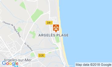 Karte Argeles sur Mer Appartement 116981