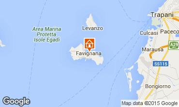 Karte Favignana Appartement 41282