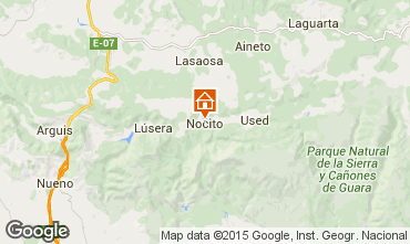 Karte Aínsa Ferienunterkunft auf dem Land 15760