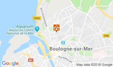 Karte Boulogne/mer Ferienunterkunft auf dem Land 116112