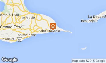 Karte Saint Francois Appartement 68788