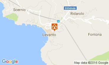 Karte Levanto Appartement 106343