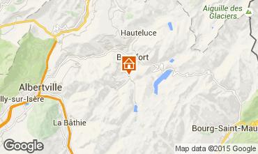 Karte Areches Beaufort Chalet 79429