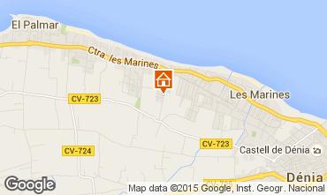 Karte D�nia Appartement 86882