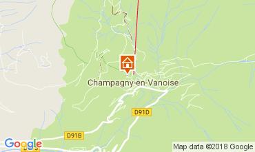 Karte Champagny en Vanoise Studio 112836
