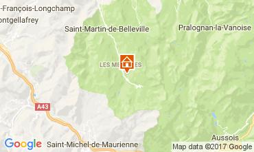 Karte Les Menuires Studio 80892