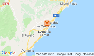 Karte La Ametlla de Mar Villa 108717