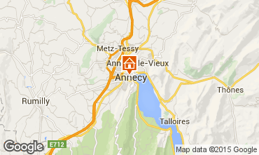 Karte Annecy Ferienunterkunft auf dem Land 94014