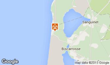Karte Biscarrosse Fremdenzimmer 77728