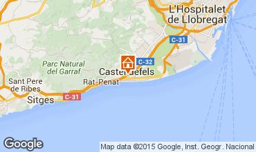 Karte Casteldefels Appartement 59696