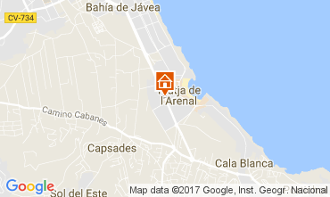 Karte Jávea Appartement 112514