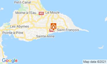 Karte Sainte Anne (Guadeloupe) Ferienunterkunft auf dem Land 15292