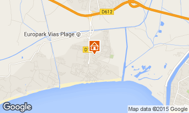 Karte Vias Plage Mobil-Home 96200