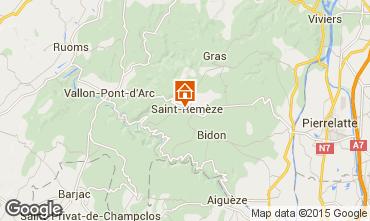 Karte Vallon-Pont-D'Arc Mobil-Home 23563