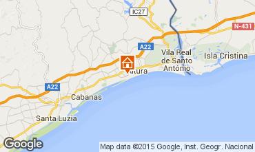 Karte Vila Real de Santo Antonio Appartement 63105