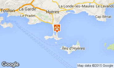 Karte Hyères Studio 5771