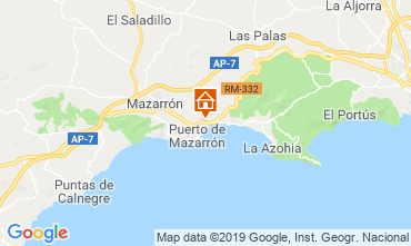 Karte Puerto de Mazarrón Appartement 113039