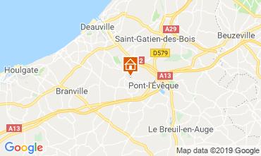 Karte Deauville Fremdenzimmer 118008
