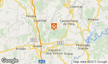 Karte Castanheira de P�ra Ferienunterkunft auf dem Land 56450