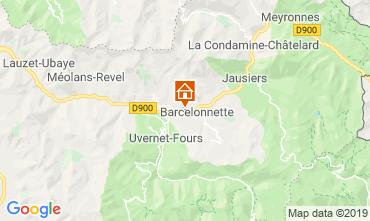 Karte Barcelonnette Appartement 4866