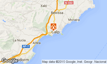 Karte Calpe Bungalow 29412