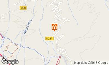 Karte La Plagne Chalet 2182
