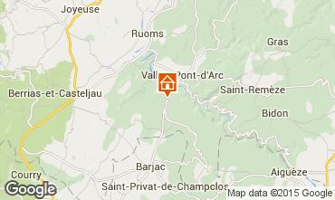 Karte Vallon-Pont-D'Arc Villa 23758