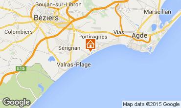 Karte Sérignan Plage Mobil-Home 10460