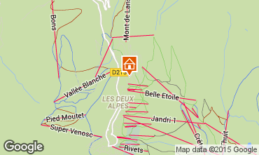 Karte Les 2 Alpes Chalet 91812