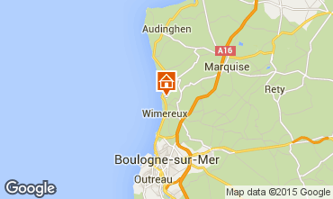 Karte Wimereux Haus 20201